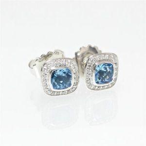 David Yurman Blue Topaz Petite Albion Earrings